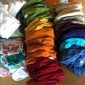 Huge lot 35 G diapers 2 swim bummies diapers